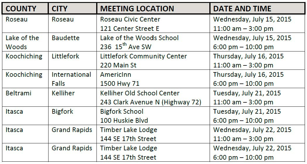 DEIS Public Hearings